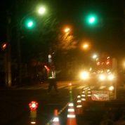 夜間の交通誘導
